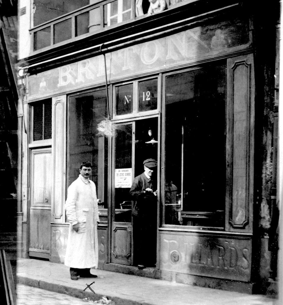 Magasin billard Bréton en 1920