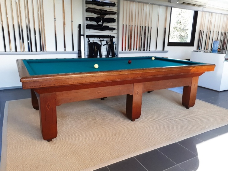 Table de billard 2m80 d'occasion rénovée